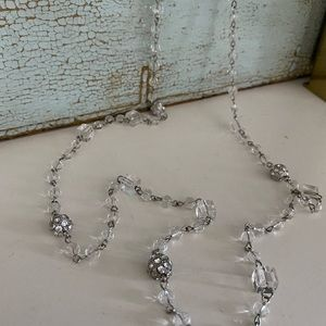 Toggle Clasp Clear& Sparkly Beaded Necklace